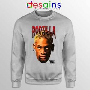 Rodzilla Dennis Rodman Sport Grey Sweatshirt The Worm nWo Wrestling