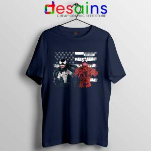 Venom And Spider Man Navy Tshirt Were Sorry Ms Parker Tees