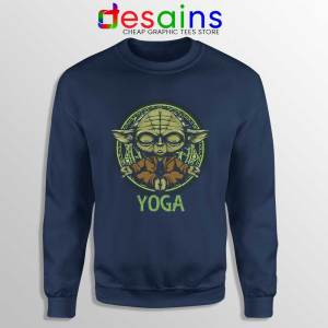 Yoga Master Yoda Navy Sweatshirt Star Wars Clothing Sweaters S-3XL