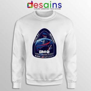 Crew Dragon Demo Fight White Sweatshirt SpaceX Dragon 2 Sweaters