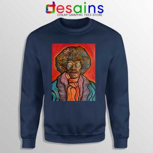 Jimi Hendrix Painting Navy Sweatshirt Bring the 70s Back Sweaters