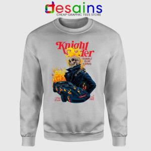 Knight Rider Ghost Sport Grey Sweatshirt Film Ghost Rider Poster Sweaters