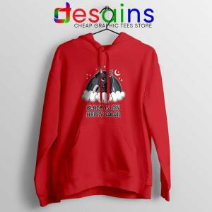 Unicorn Black Lives Matter Red Hoodie Black is My Happy Color Jacket