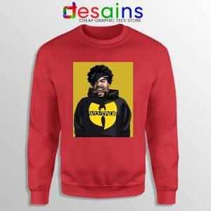 Wu Man Wu Tang Red Sweatshirt Merch Wu-Tang Clan Sweaters
