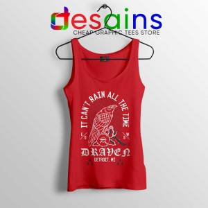Eric Draven The Crow Red Tank Top It Can't Rain All The Time Tops