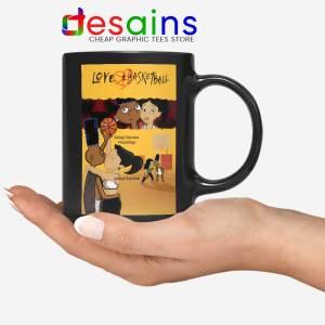 Love and Baskbetball Black Mug Sports Romantic Film Coffee Mugs
