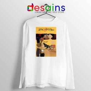 Love and Baskbetball White Long Sleeve Tshirt Sports Romantic Film Tees