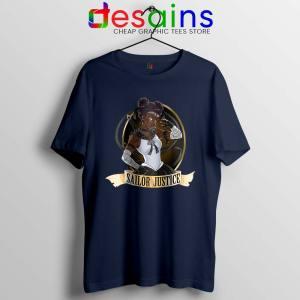 Sailor Justice BLM Navy Tshirt Black Lives Matter Sailor Moon Tee Shirts