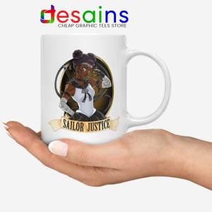 Sailor Justice BLM White Mug Black Lives Matter Sailor Moon Coffee Mugs 11oz