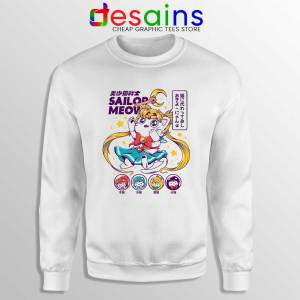 Sailor Moon Meow Sweatshirt Funny Sailor Cat Sweaters S-3XL