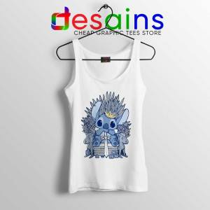 Stitch In Side Thrones White Tank Top Game of Thrones Funny Tops