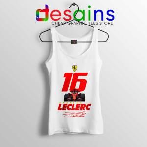 Charles Leclerc Race Car White Tank Top F1 Driver Tops S-3XL