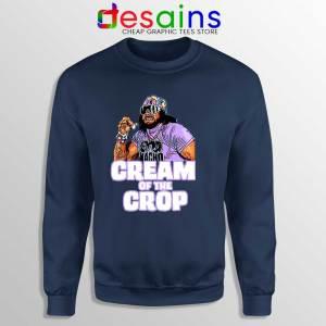 Cream Of The Crop Navy Sweatshirt Macho Man Cheap Sweaters WWF