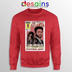 Donald Glover Amazing Adventures Red Sweatshirt Childish Gambino
