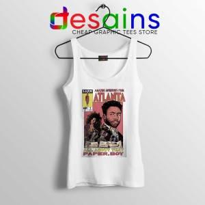 Donald Glover Amazing Adventures White Tank Top Childish Gambino Shirts