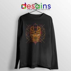 Iron Man Tech Long Sleeve Tee Iron Man Mask Art T-shirts Long