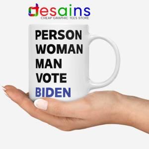 Person Woman Man Vote Biden Mug Vote Blue 2020 Coffee Mugs