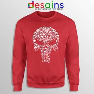 Punisher Skull Symbol Red Sweatshirt Marvel Comics Sweaters S-3XL