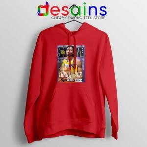 Slam Magazine Kobe Red Hoodie Black Mamba Retro Jacket Hoodies