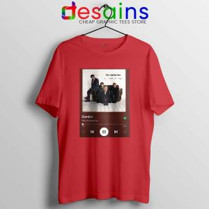 Zombie The Cranberries Red Tshirt Rock Band Merch Tees