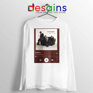 Zombie The Cranberries White Long Sleeve Tee Rock Band Merch T-shirts