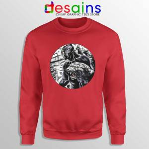 The Black Prince Red Sweatshirt RIP Black Panther Sweaters