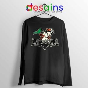 Calvin Ball Long Sleeve Tee Calvin Hobbes Baseball T-shirts