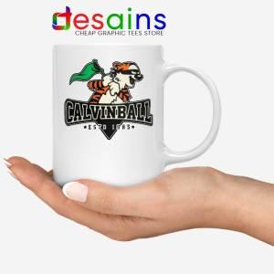 Calvinball White Mug Calvin and Hobbes Baseball League Coffee Mugs