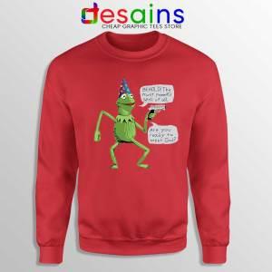 Kermit The Frog Red Sweatshirt Yer A Wizard Sweaters