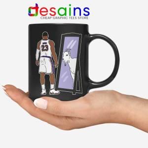 LeBron James Mirror GOAT Black Mug Los Angeles Lakers Coffee Mugs