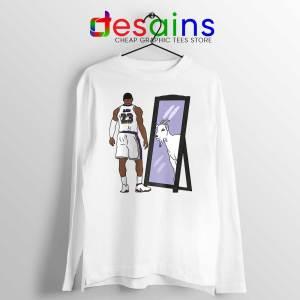 LeBron James Mirror GOAT Long Sleeve Tee Los Angeles Lakers