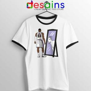 LeBron James Mirror GOAT Ringer Tee Los Angeles Lakers T-shirts