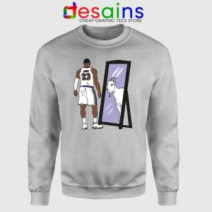 LeBron James Mirror GOAT Sport Grey Sweatshirt Los Angeles Lakers Sweaters