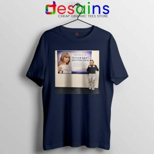 Phoebe and Taylor Swift Navy Tshirt Education Center Friends Tees