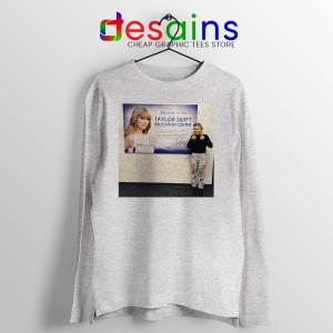 Phoebe and Taylor Swift Sport Grey Long Sleeve Tee Education Center T-shirts