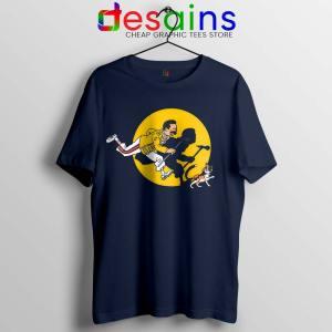 The Adventures of Freddie Navy Tshirt Freddie Mercury Queen