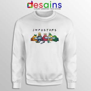 Among Us Crewmates White Sweatshirt Friends Impostor Sweaters