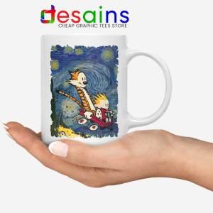 Calvin Hobbes Stary Night Mug Comic Strip Coffee Mugs
