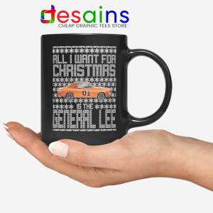 Dukes Hazzard Christmas Mug General Lee Car Coffee Mugs
