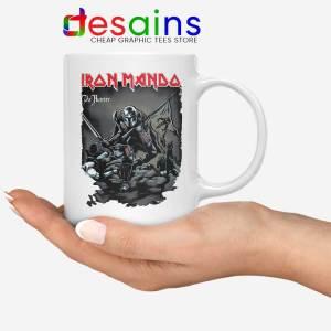 Iron Mando Maiden White Mug The Mandalorian Band Coffee Mugs