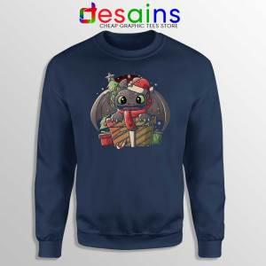 Toothless Dragon Santa Navy Sweatshirt Christmas Night Fury Sweaters