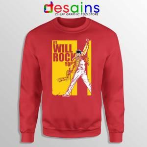 We Will Rock You Red Sweatshirt Freddie Mercury Kill Bill Sweaters