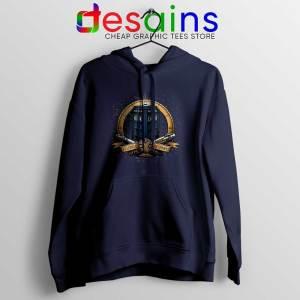 Allons y Geronimo Navy Tardis Hoodie Doctor Who Jacket