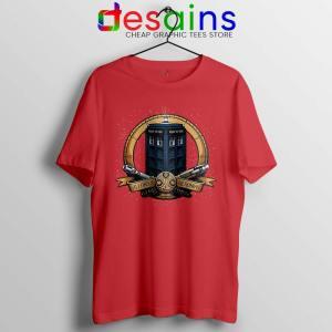Allons y Geronimo Red Tardis Tshirt Doctor Who Tee Shirts