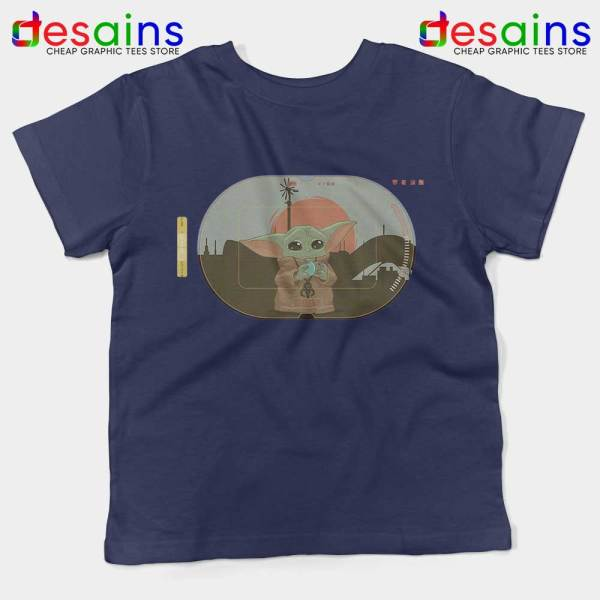 Grogu Target Mando Navy Kids Tee Star Wars Disney+ Youth Tshirts