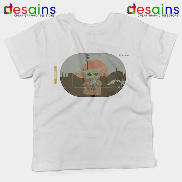 Grogu Target Mando White Kids Tee Star Wars Disney+ Youth Tshirts
