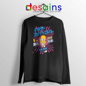 Homer Simpson Mr Sparkle Black Long Sleeve Tee Rising Sun