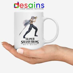 Sephiroth 2 White Mug Super Smash Bros Ultimate Coffee Mugs
