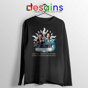 Supernatural Family Long Sleeve Tee Dont End With Blood 4W