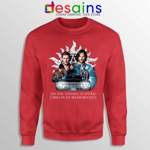 Supernatural Family Red Sweatshirt Dont End With Blood 4W Sweaters